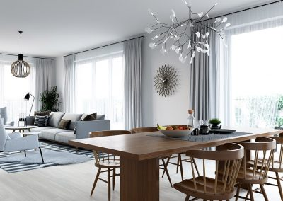 3D render dining room by proNest