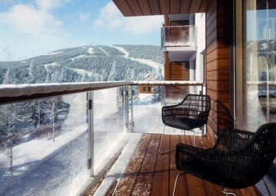 Hyper realistisk 3D visualisering med vinter motiv