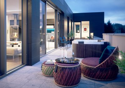 3D Visualisering terrasse
