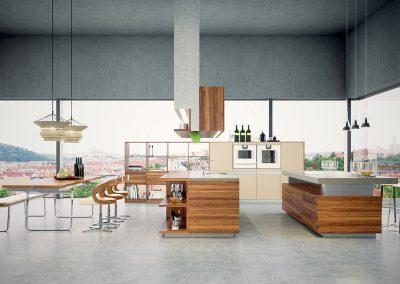 3D visualisering av modern kjøkken