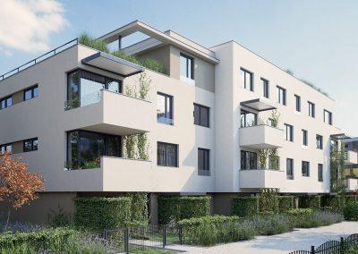Hyper realistisk 3D visualisering av leilighetsbygg