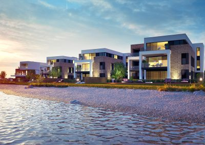3D render beach villas 2 by ProNest