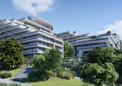 3D render residential building by ProNEst