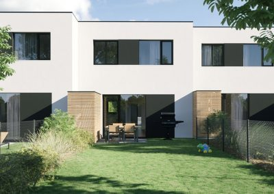 3D render terraced house by ProNest